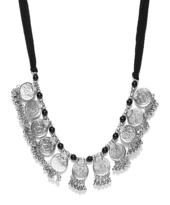 Infuzze Silver-Toned Metal Necklace