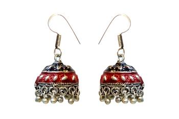 Minakari Oxodised Jhumki Earrings