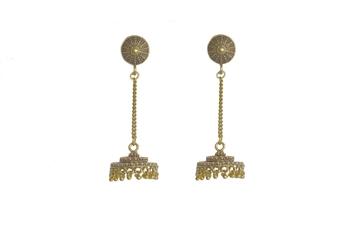 Golden Oxidised Earrings