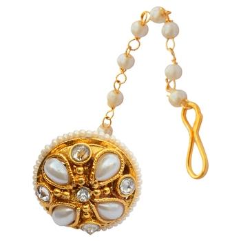 Foppish Mart Rajasthani Pearl Embedded  Borla For Women