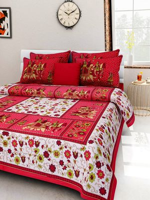 Dreamy Zone Cotton Double Bedsheet with Pillow Cover