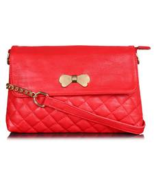 Lychee Bags Women's Red  PU Sling Bag