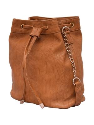 Lychee Bags Women's Beige pu Sling Bag