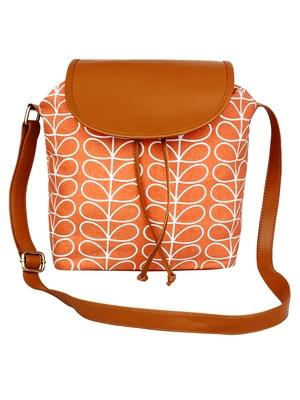 Lychee Bags Women's Peach CanvaS Sling Bag
