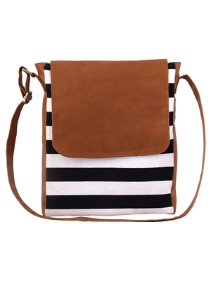 Lychee Bags Women's Tan Canvas Sling Bag