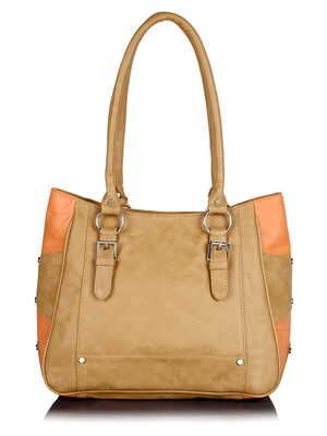Lychee Bags Girls PU Loretto Shoulder Bag (Beige)