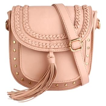 Lychee Bags Girl's Peach PU Hana Sling Bag