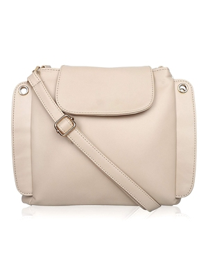 Lychee Bags Stylish Lara Cream color Sling Bag for Girls