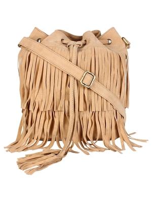 Lychee Bags Women's Cream PU Jennifer Sling Bag