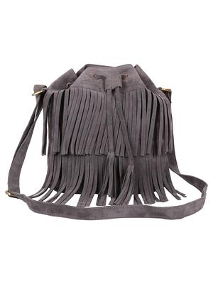 Lychee Bags Women's Grey PU Jennifer Sling Bag