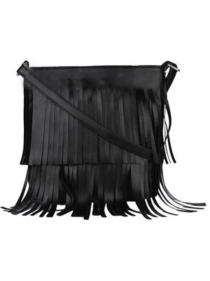 Lychee Bags Girl's PU Pam Fringes Sling Bag