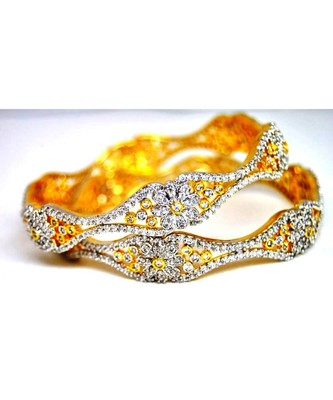 Ornate Diamond Bangles
