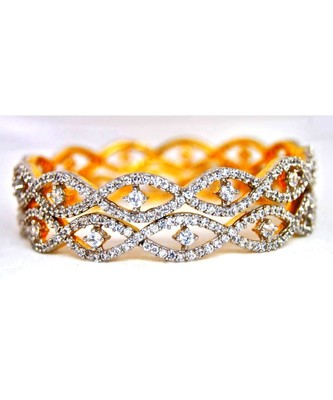 Dove Eyed American Diamond Bangles