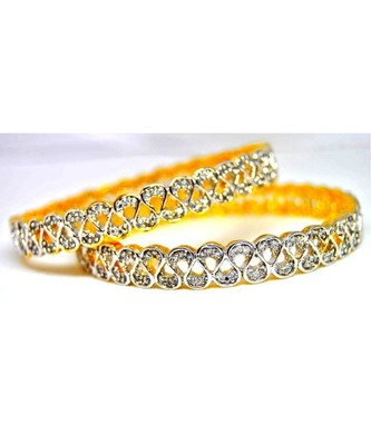 Curved American Diamond Bangles