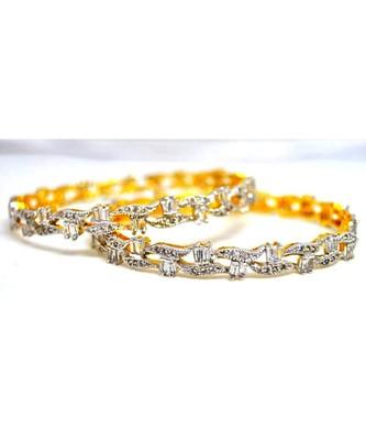 Baguette American Diamond Bangles