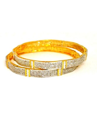 Sleek American Diamond Bangles