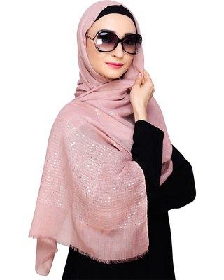 Pink plain cotton hijab