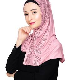 Pink plain jersey hijab