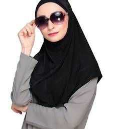 Black plain jersey hijab