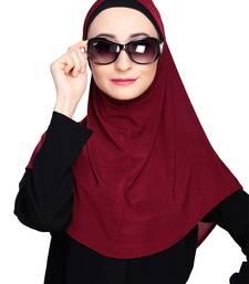 Maroon plain jersey hijab