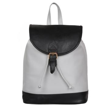 Lychee Bags PU Grey_Black Kim Backpack for Girls