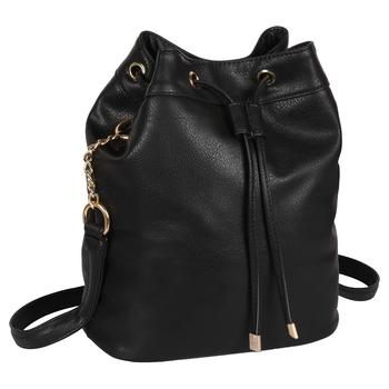 LYCHEE BAGS PU BLACK  SLING BAG