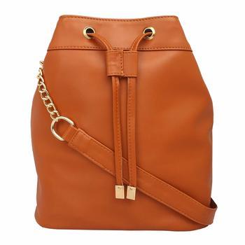 LYCHEE BAGS PU BEIGE SLING BAG