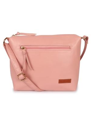 Lychee Bags Women's Peach  Pu Sling Bag