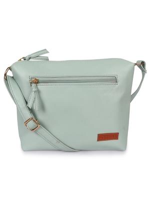 Lychee Bags Women's Green Pu Sling Bag