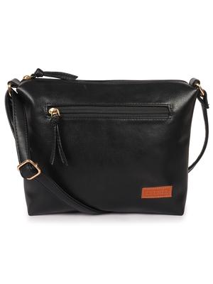 Lychee Bags Women's Black  Pu Sling Bag