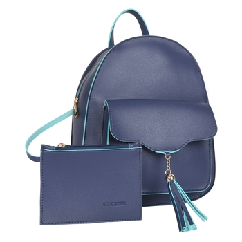 Lychee Bags PU Blue Backpack for Girls