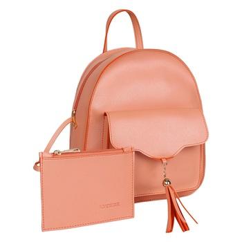 Lychee Bags PU Peach Backpack for Girls