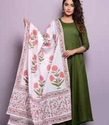 Green plain rayon kurta sets