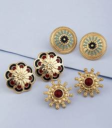 Set of Three Ethnic Beauty Studs