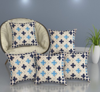 multicolor soft touch fabric 5 set of cushion cover