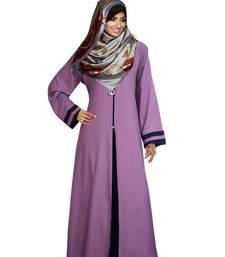 Purple Plain PolyCotton Abaya
