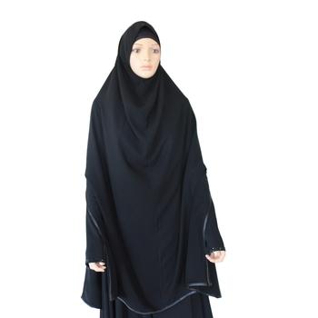 Black plain crepe SELFIE hijab