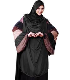 Maroon Plain Poly Cotton Hijab