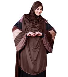 brown plain cotton poly hijab