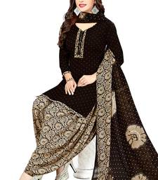 Black Printed Synthetic Salwar
