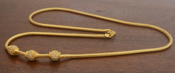 Gold necklace 24""