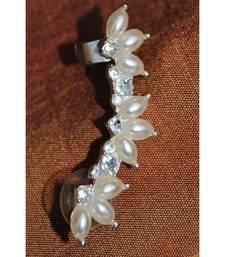Pearl Left Ear Clip Stud Ear Cuff