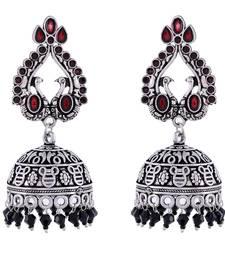 Black Oxidised Smart Look Jhumki Pattern Earring
