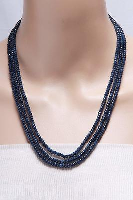 Blue Multi Layer Onyx Necklaces
