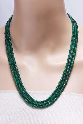 Green Multi Layer Onyx Necklaces