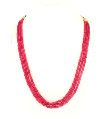 Pink multi-layer onyx necklaces