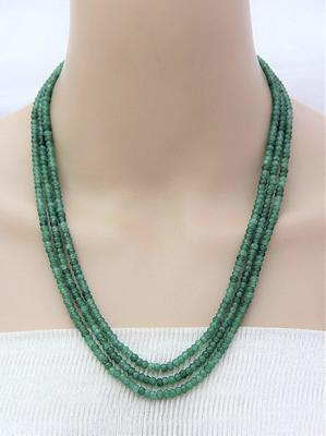 Green Multilayer  Onyx Necklaces