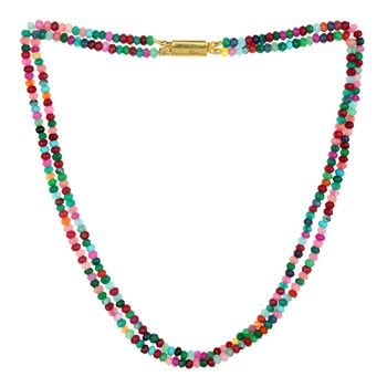 multicolor 2-layered  onyx necklaces