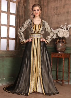 Gold Embroidered Crepe Islamic Kaftans