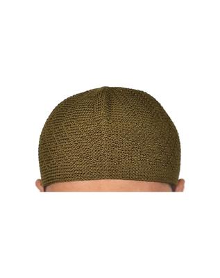 Mehendi Green Cotton Muslim Prayer Cap
